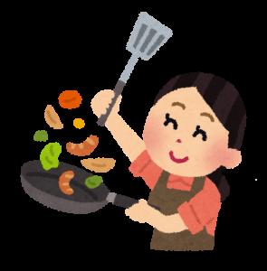 料理のレシピを教える